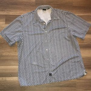 MOSSIMO CASUAL MENS BUTTON FRONT SHIRT LG